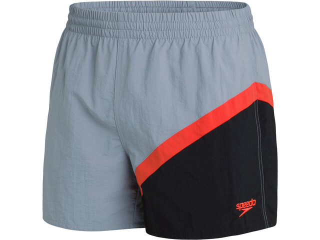"speedo Colourblock 14"" Watershorts Men, shark grey/black/volcanic orange"